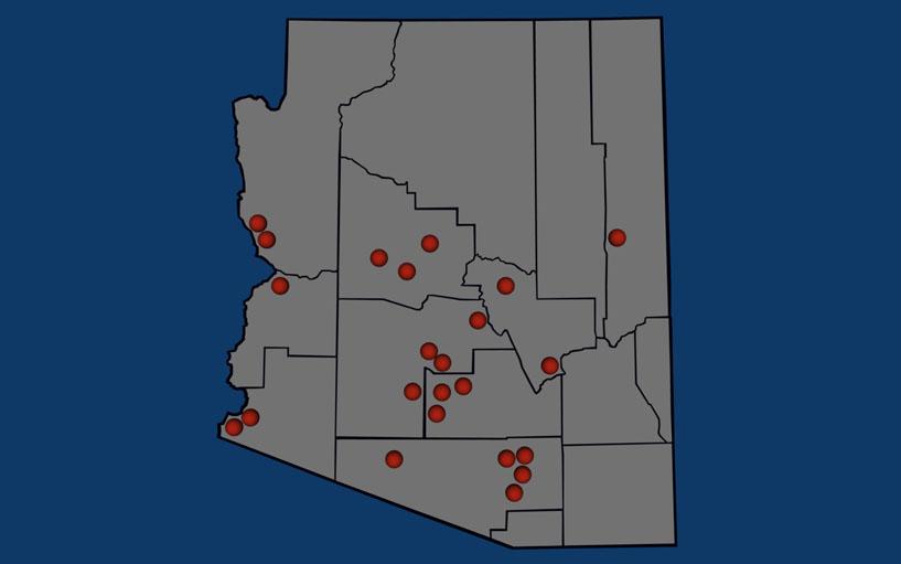 Map Of Arizona Casinos.Arizona Casinos
